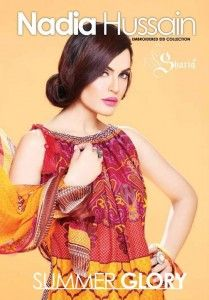 Shariq Lovely Model Nadia Hussain Embroidered Eid Collection 2014 1 209x300 Shariq & Lovely Model Nadia Hussain Embroidered Eid Collection 2...
