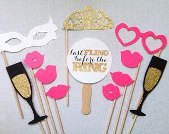 12-delige Bachelorette Photo Booth Props van CleverMarten op Etsy