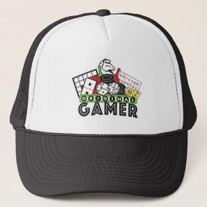Original Gamer – Puzzle & Board Game Fans Trucker Hat | Zazzle.com