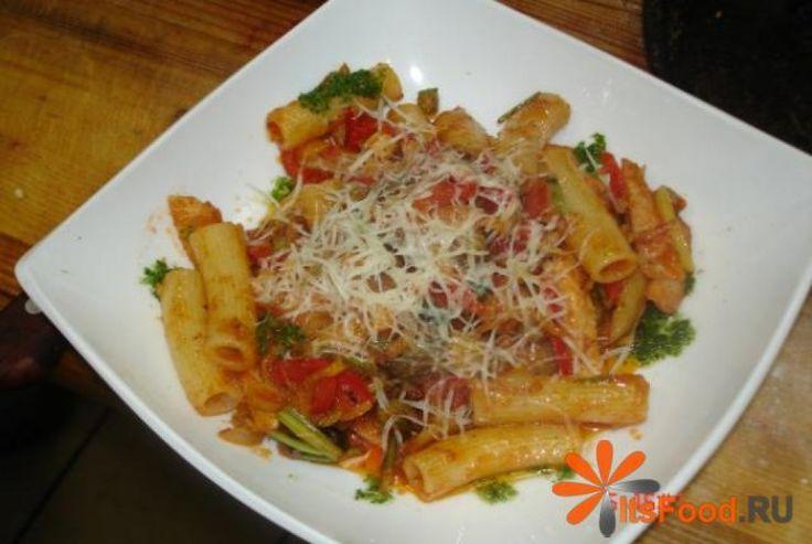 Ригатони с курицей http://ricettio.com/recipe-1702-rigatoni-s-kuritsey  Итальянская кухня славится своими ароматами и изысканными блюдами по всему миру. Но самая вкусная еда - это еда приготовленная своими руками. Ригатони с курицей подарят незабываемые вкусовые ощущения и станут любимым блюдом всей семьи.