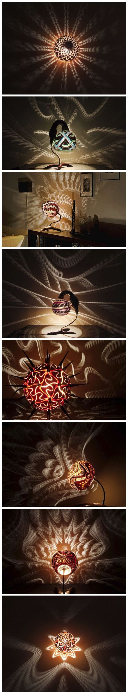 gourd lamp  Judy, I luv this! Do u make them?