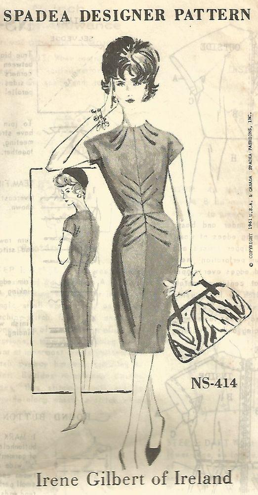 SPADEA DESIGNER UNCUT! IRENE GILBERT EVENING DRESS MISSES' SEWING PATTERN
