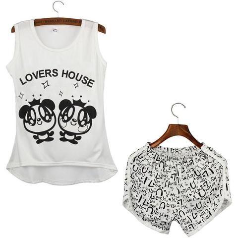 Ladies Pyjamas - Sleeveless Top and Shorts