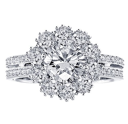 Save 70%!!!!!! 2.49 CT TW 2-Row Shank Diamond Halo Engagement Ring in Platinum Pave Setting: Was $14,695.00 ! ~~**~~ NOW: $4,899.00 ~~**~~  http://amzn.to/Qh1QdT