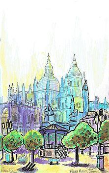 Plaza Mayor, Segovia - August by Natalie Huggins