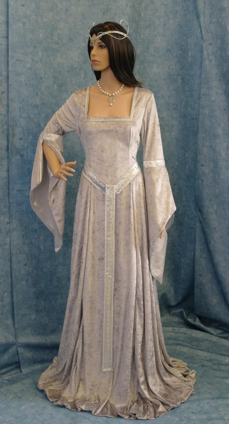 Elven Dress Medieval Renaissance Fairy Dress Lotr Hobbit