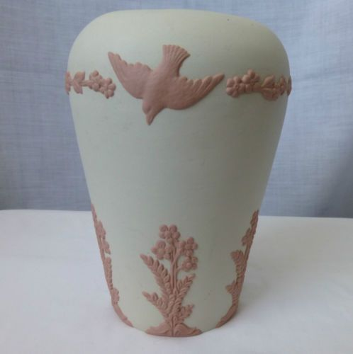 Antique,1926,Ecanada Art Pottery,GEORGE EMERY,Pink Sprigged Vase