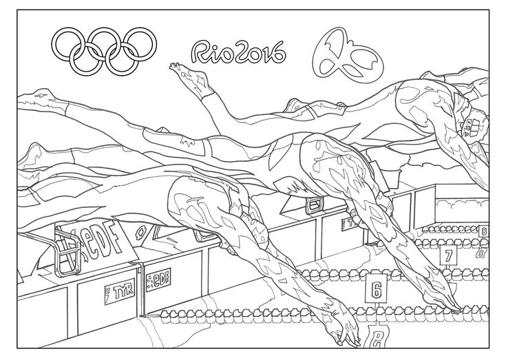 free coloring page coloring adult rio 2016 olympic games swimming rio 2016 summer olympic games. Black Bedroom Furniture Sets. Home Design Ideas
