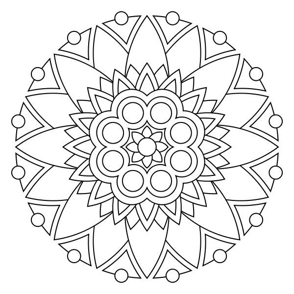 Printable Mandalas To Color Mike Folkerth King Of Simple Coloring