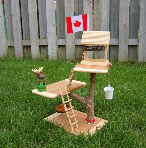 Miniature tree house project