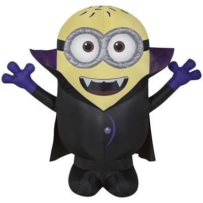 Universal Despicable Me 3.5-ft x 3.93-ft Internal Light Minion Halloween Inflatable