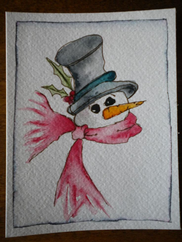 Best 25 watercolor christmas cards ideas on pinterest Christmas card scenes to paint