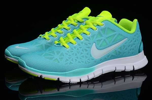 UK Nike Free TR FIT Womens Blue Green Green Running Shoes