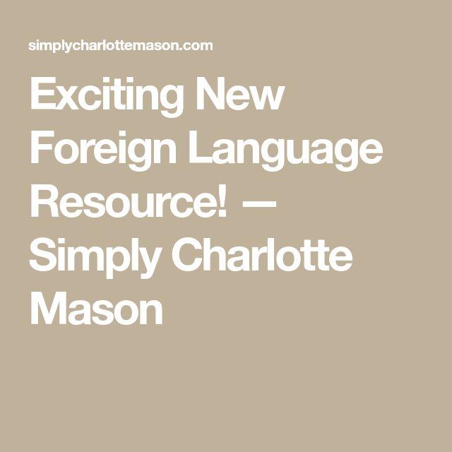 Thrilling New Overseas Language Useful resource! — Merely Charlotte Mason