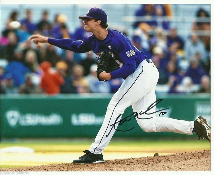 AARON NOLA Signed/Autographed LSU TIGERS Baseball 8x10 Photo