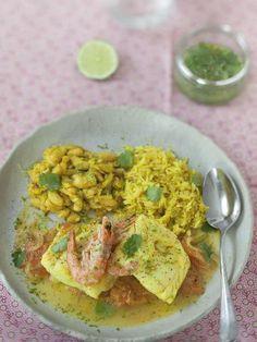 Cari de poisson à la Réunionnaise - Recette de cuisine Marmiton : une recette