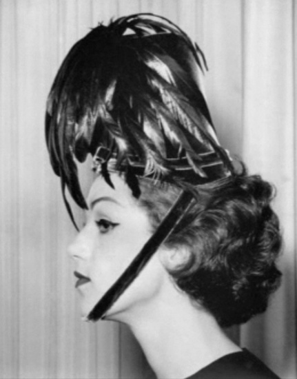Hat design by Bill Cunningham in his millinery days, before becoming a photographer