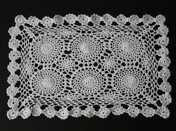 Vintage crochet table doilies 100% cotton
