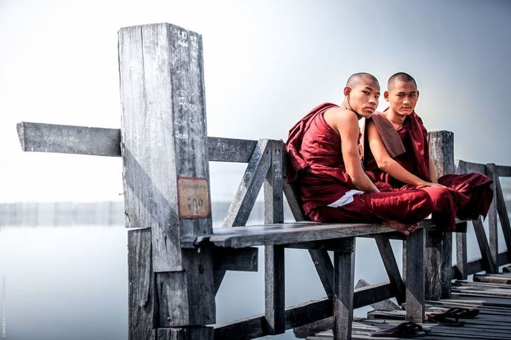 Monks at Amarapura bridge Photo by Andrea Cavigli — National Geographic Your Shot