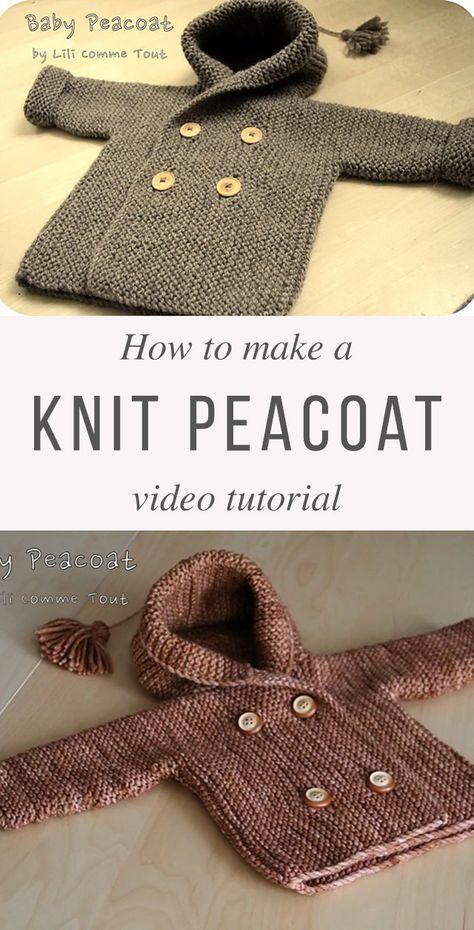 8254ee278 Knit Baby Peacoat Free Pattern Tutorial