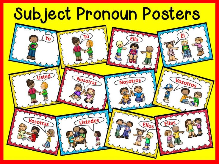 Spanish Topic Pronouns Worksheets and Posters