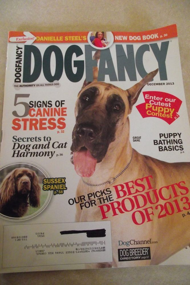 Dog Fancy December 2013 Great Dane Canine Stress Dog And Cat