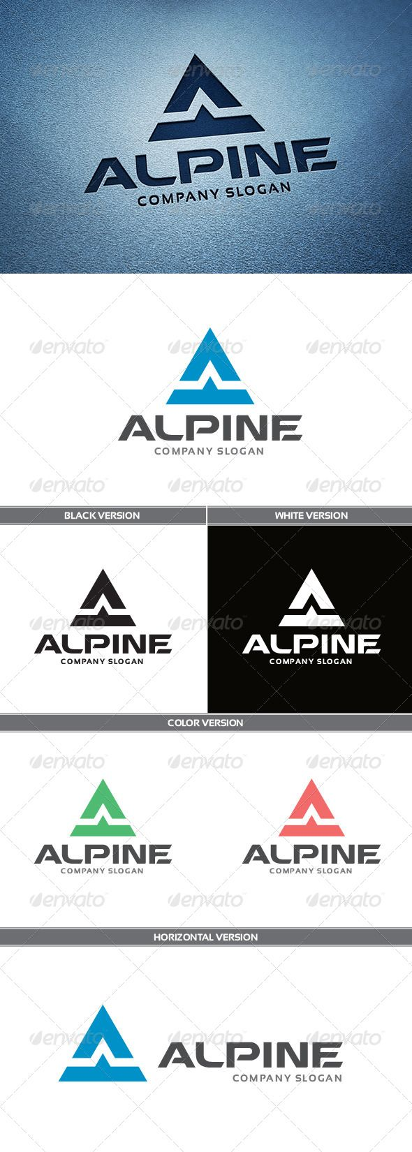 Alpine Logo — Vector EPS #clean #mount • Available here → https://graphicriver.net/item/alpine-logo/5648835?ref=pxcr
