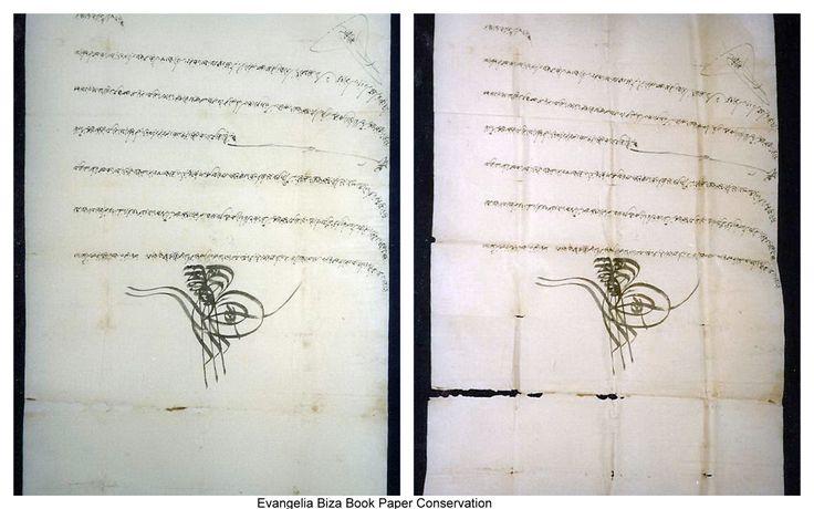 Paper Conservation.  Ottoman Firman.