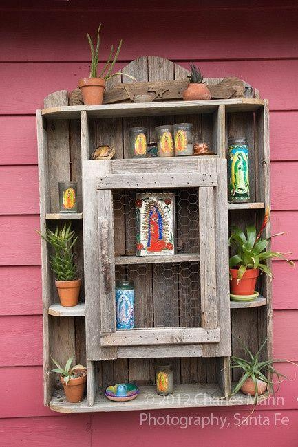 Shadowbox shrine. Use bookcases/shelves to create a sacred space at home. Catholic, Christian, Prayer, Spirituality