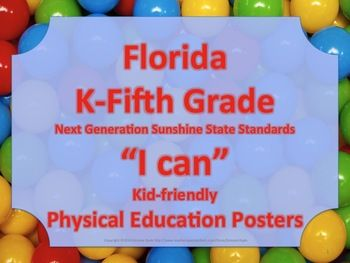 Florida Elementary Bundle PE Physical Education NGSSS Standards Posters