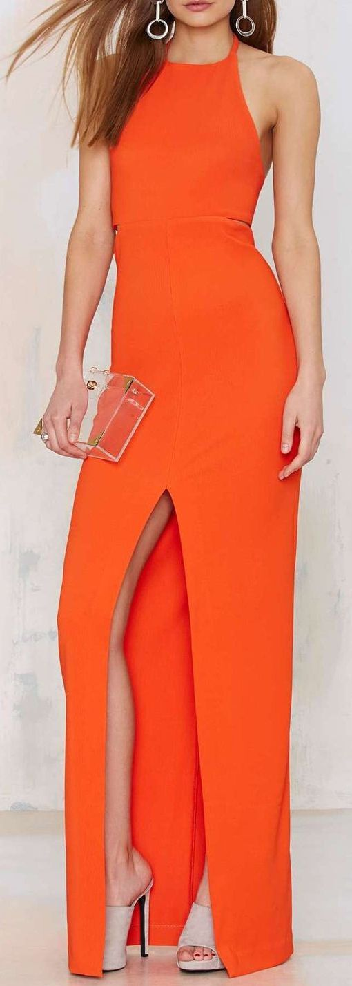 Sunset Haler Maxi Dress Don't like the shoes but the dress is stunning