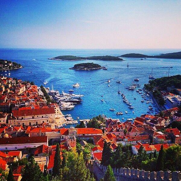#hvar #croatia #island #landscape #fortezza #sun #sea #oldtown #summer