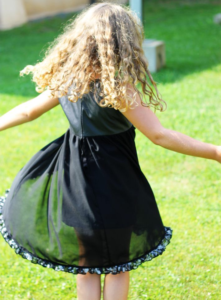 Serger Pepper - how to stitch a designer girl frock - twirling