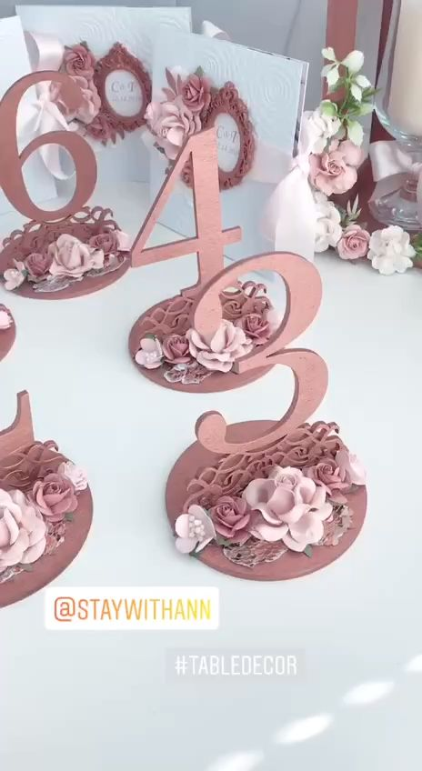 Table Numbers Wedding Rose Gold Wedding Decor Elegant Table Decor Rose Gold Wooden Table Numbers  – Декор для свадьбы