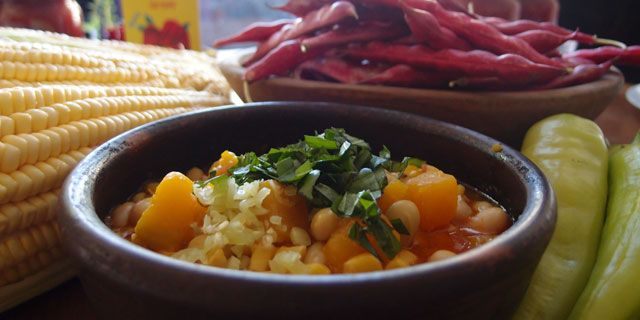 Cranberry Beans with Squash and Corn (Porotos Granados)
