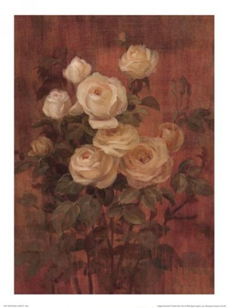 Danhui Най - Персик розы на Красной II-9x12 - Репродукция - Глобальная Галерея