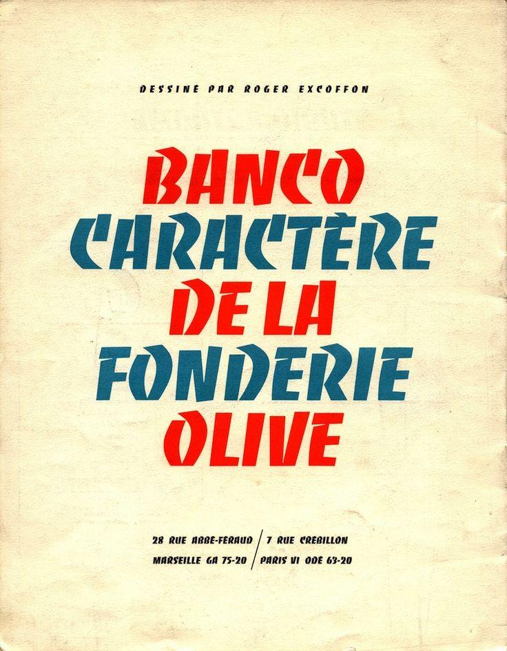 Roger Excoffon – Banco