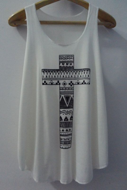 Cross  Shirt  Cross Tank top Pop Punk Rock Tank by vintageartshirt, $15.00 to where to my costa rica trip! size large