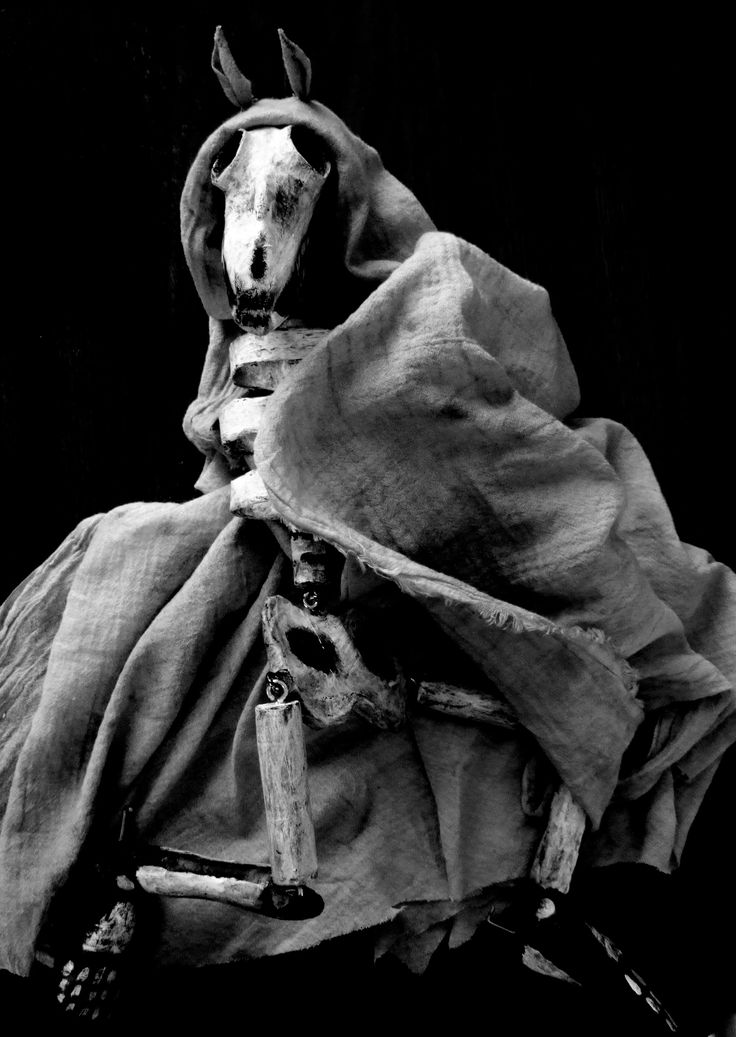 Mari Lwyd puppet for The Mare's Tale