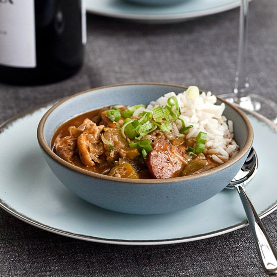 Chicken-and-Okra Gumbo // More Terrific Gumbos: http://www.foodandwine.com/slideshows/gumbo-recipes #foodandwine