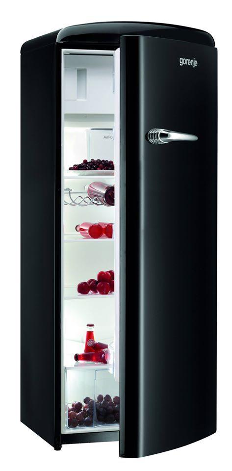 RB60299OBK - Retro Black Freestanding Refrigerator