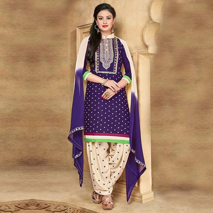 Give a classy look with this purple kamiz which has beautiful embroidery in the placket.  #EthnicFactory #Fairprice