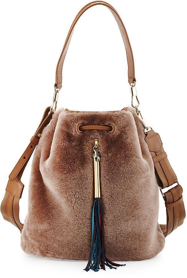 Elizabeth and James Shearling Fur Bucket Bag ($595)