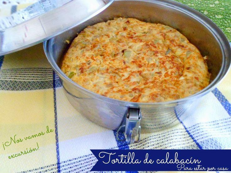Tortilla de calabacin del blog Para estar por casa