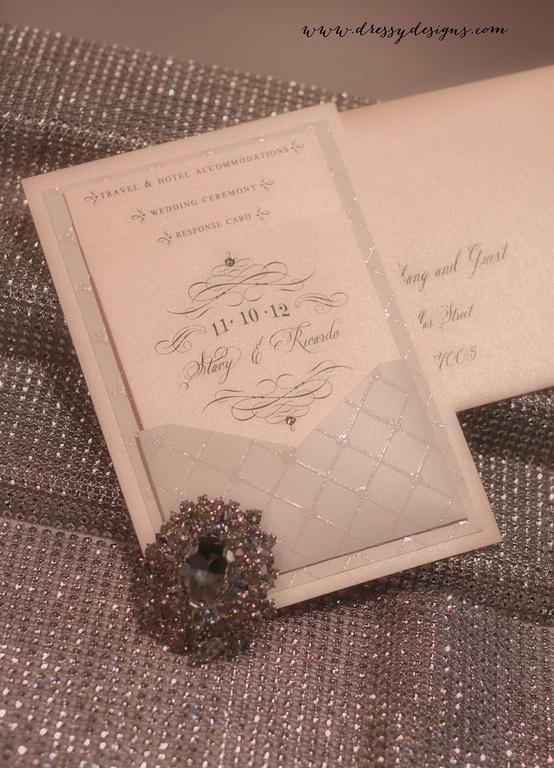 Wedding Invitations - dressydesigns' Photos, BLUSH, PEACH, POCKET