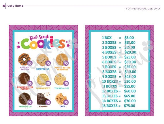 The 25 Best Girl Scout Cookies Price Ideas On Pinterest