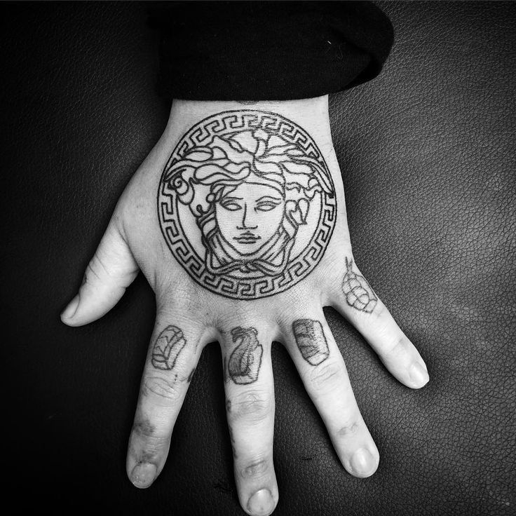 """Versace Versace Versace . From yesterday #305 #boldwillhold #blxckink #blackwork #blackworkers #blackworkerssubmission #blacktattoos #blacktattooart…"""