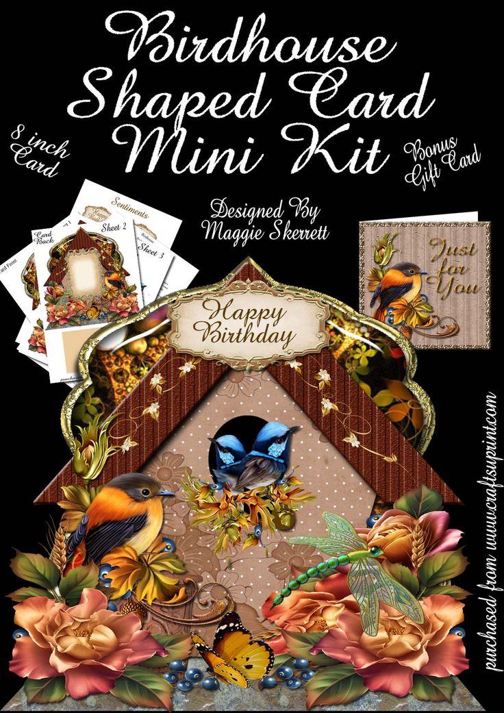Birdhouse shaped card kit