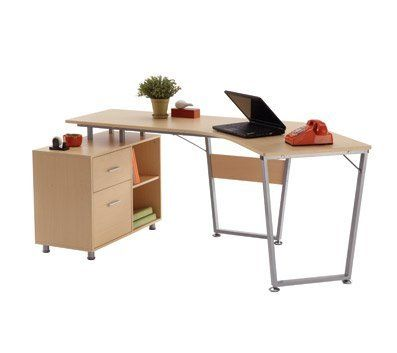 realspace brent dog leg desk oak light oak finish on this metal frame desk adds an elegant look that fits most offices at office depot u0026 officemax