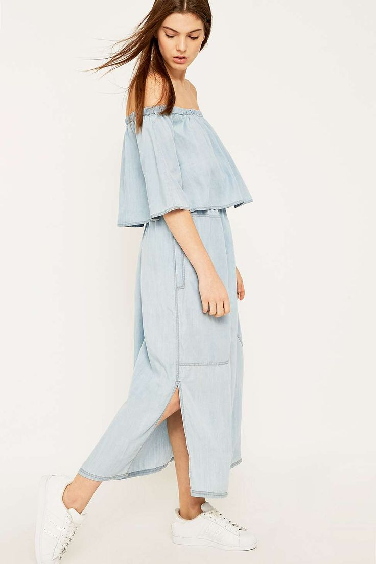 LF Markey Otto Blue Chambray Dress